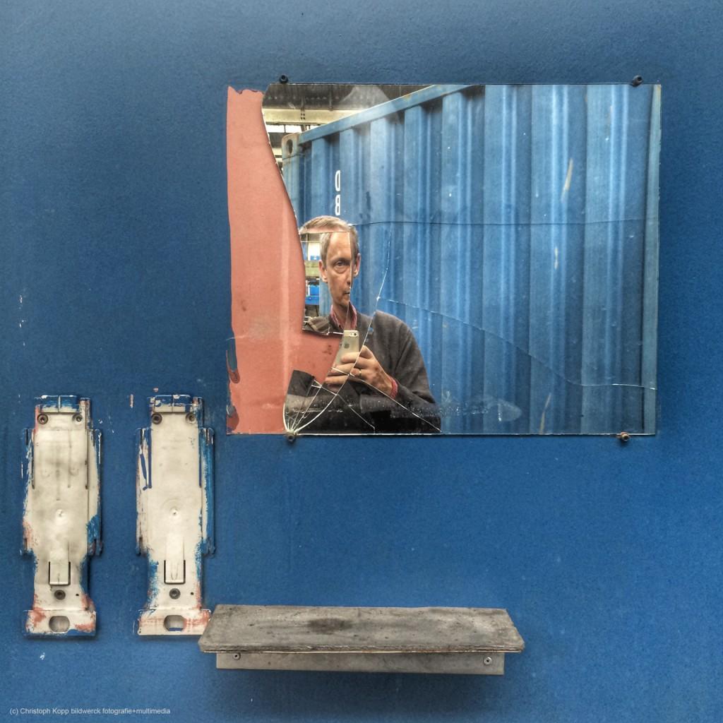 Blue iPhone Selfie