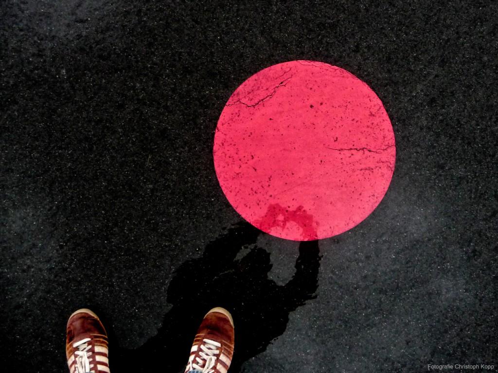 Self Portrait in Red & Black (Berlin, Germany)